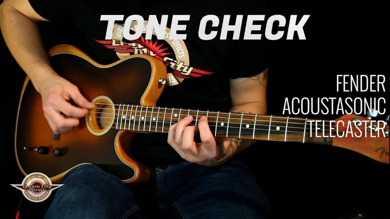 TONE CHECK: Fender Acoustasonic Telecaster Demo - NO TALKING