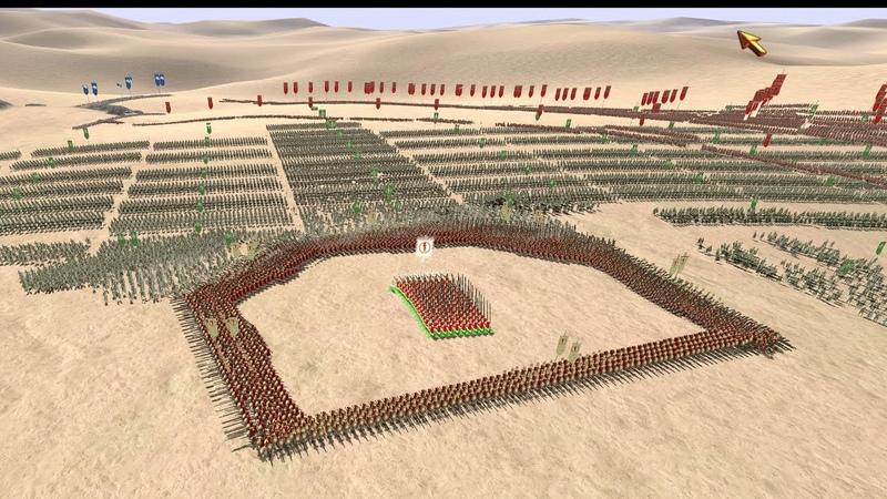 2000 SPARTANS vs 11800 BEST ROMAN UNITS ROME Total War 4K Gameplay