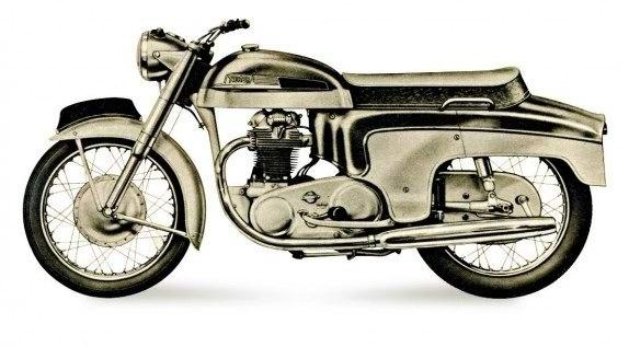 600-кубовый Norton Dominator 1960 года, выпускали в «люксовом» закрытом исполнении