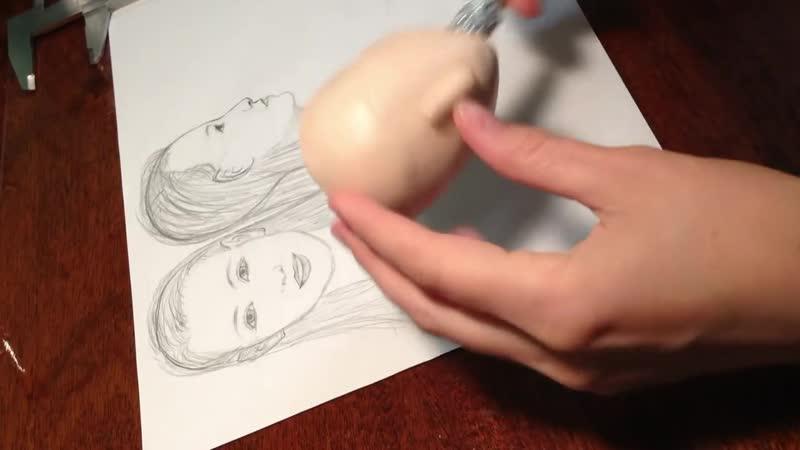 Мастер-класс_ лепка головы куклы из Super Sculpey Living Doll 2