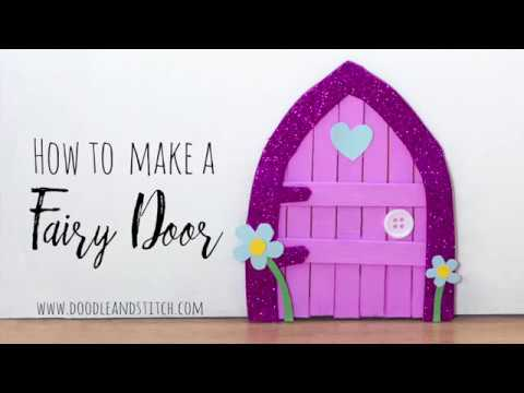 How to Make a Fairy Door DIY Craft out of Lolly Sticks