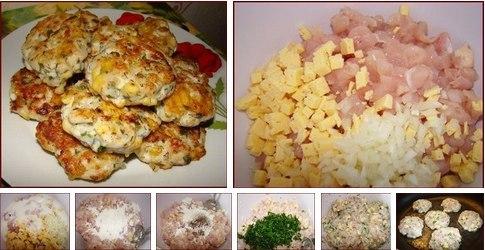 """Так и тают во рту! Когда их ешь...то они испаряются, как """"роса по утрам""""...   Ингредиенты:  - 2 средних куриных филе  - 100 грамм кефира (либо 2-3 ложки майонеза)  - 100 грамм сыра"""