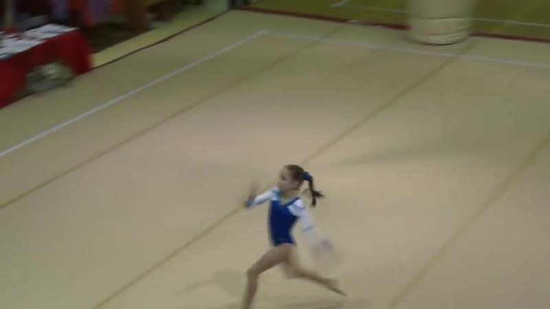 Спортивная гимнастика. Петрова Анастасия. Вольные упражнения
