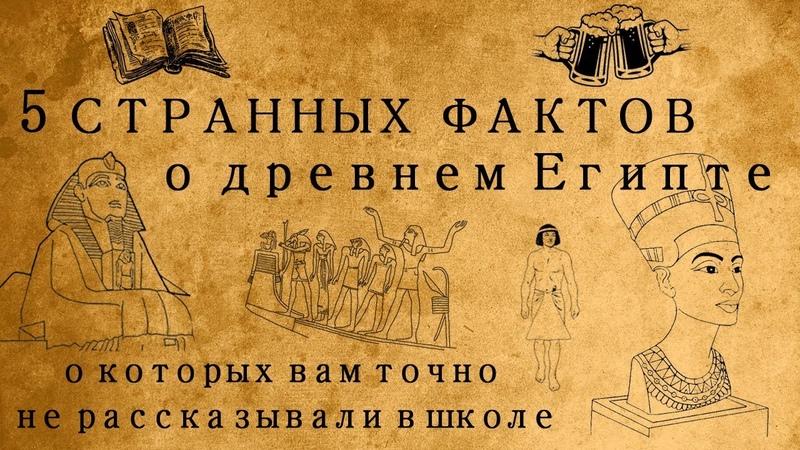 5 СТРАННЫХ ФАКТОВ О ДРЕВНЕМ ЕГИПТЕ, О КОТОРЫХ ВАМ ТОЧНО НЕ РАССКАЗЫВАЛИ В ШКОЛЕ!