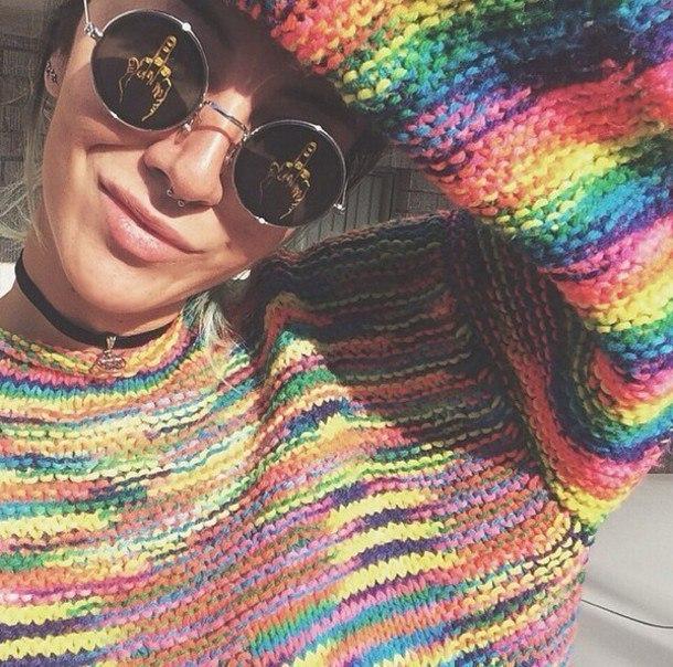 Радужная пряжа для вязания -