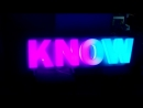 Вывеска на RGB модулях KNOW LED