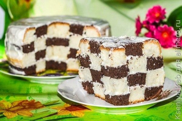 Шахматный торт в мультиварке. Чтобы приготовить шахматный торт,