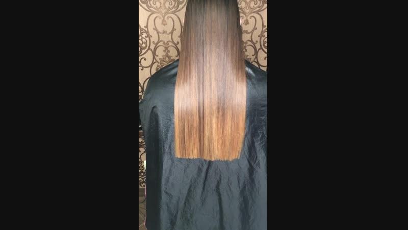 Подравнивание кончиков волос ФЕН