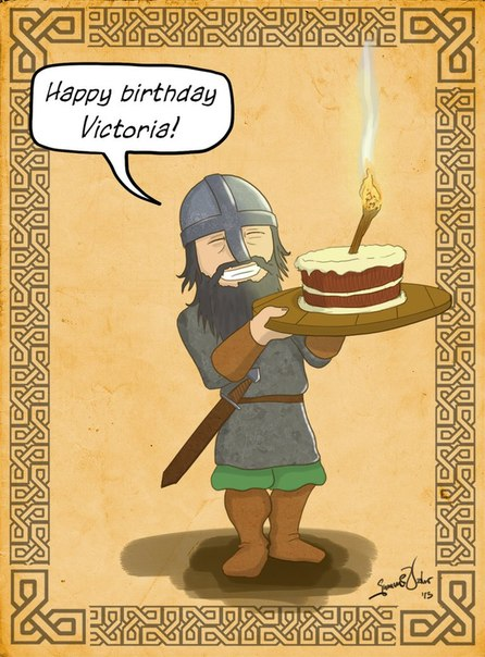 Поздравления викингов с днем рождения 34