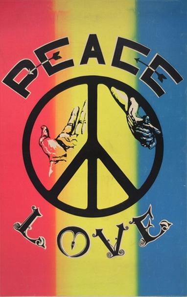 Психоделические постеры 60-х. Граждане США активно протестовали против войны.