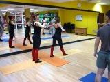 Шоу #Любовные сети в фитнес-клубе К2 на растяжке в парах