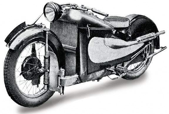 AJW Super Four 1928 года с «литровым» автомобильным двигателем так и остался экстравагантным прототипом.