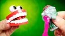 БЕЗУМНЫЙ АНТИСТРЕСС и Заводные Игрушки - Зомби Слайм, Прыгающая челюсть - Безумные игрушки