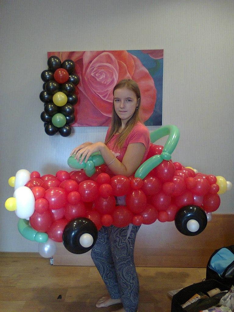 Машинка из шаров своими руками фото 55