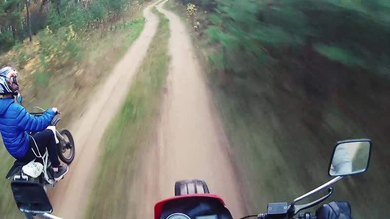 Покатушки на мотоцикле с другом ПИТБАЙКЕРОМ
