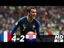 🔥 Франция - Хорватия 4-2 - Обзор Матча Финал Чемпионата Мира 15/07/2018 UHD 4K 🔥