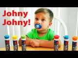 Bad Kid Steals M&ampM's IRL Learn Colors with Candy Johny Johny Yes Papa Nursery Rhymes Songs
