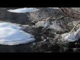 Full HD видео 1080p природы зима фильм, замерзшая река К...