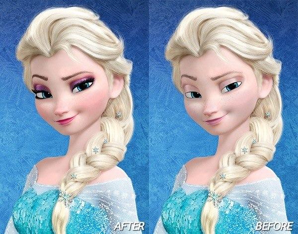 Фото эльзы из холодного сердца её макияж
