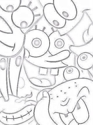 картинки губка боб для срисовки