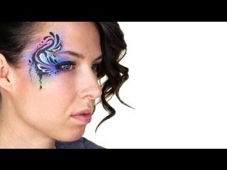 Красивый аквагрим, фейс арт для взрослыхGraffiti Splash Makeup Tutorial