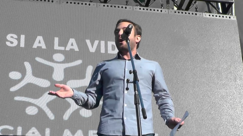 Discurso de Agustín Laje en marcha ProVida