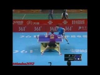 Настольный теннис. Timo Boll vs Qui Yike (Chinese Super League 2013)