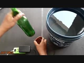 Как идеально ровно разрезать бутылку