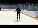 Хаха второй раз на коньках )