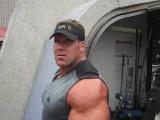 Mr Olympia Jay Cutler workout at Muscle Beach Venice CA 2007