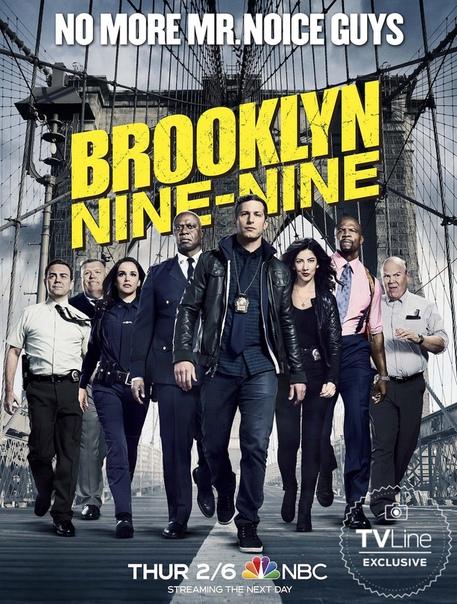 Постер седьмого сезона сериала «Бруклин 9-9»