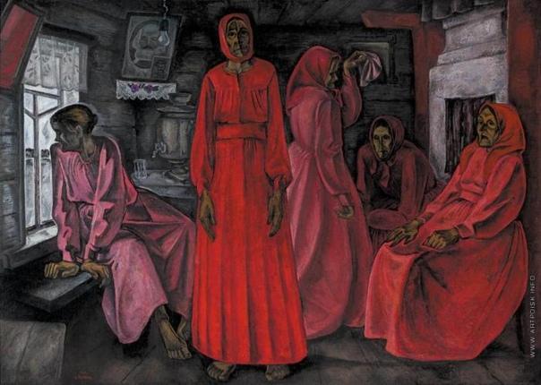 Картина «Воспоминания. Вдовы», 1966 год. Художник: Виктор Попков