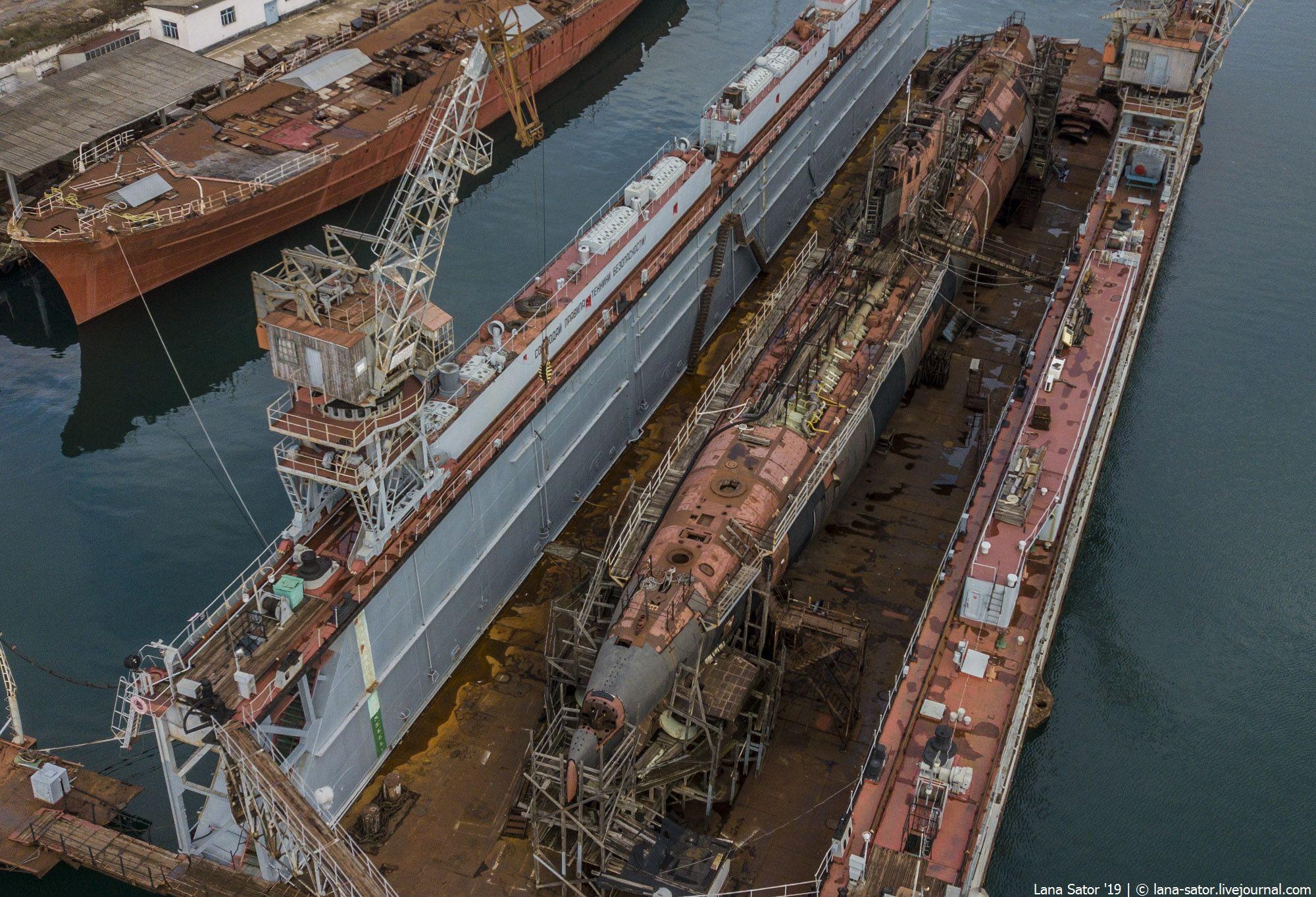"""Ржавая подводная лодка Б-380 в Крыму: последний выпущенный экземпляр проекта 641Б """"Сом"""""""