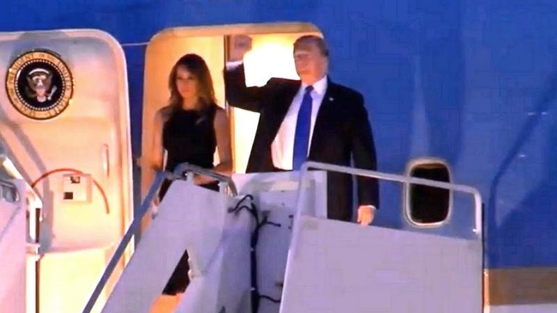 President Trump and First Lady Melania Trump arrive in Palm Beach, FL Feb 15, 2019 Palm Beach Inte