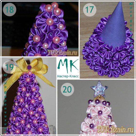 Мастер класс елка из цветов