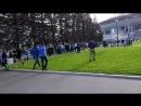 Фанаты Зенита пресуют Спартак перед матчем