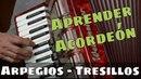 APRENDER ACORDEÓN CLASE 39: El Tresillo: Valores irregulares en la melodia Arpegios en Sol Mayor