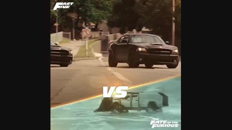 "Dodge Charger SRT-8 versus the Dodge ""Ice Ram"" truc"