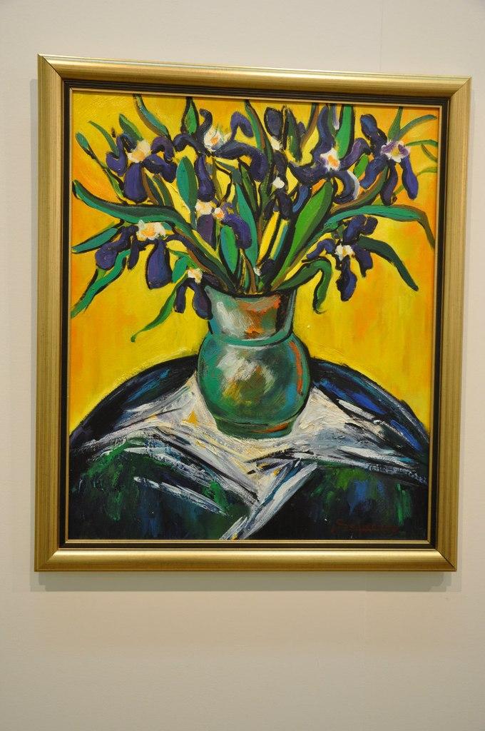 Союз художников Армении  Сурен Сафарян (р. 1983)  Ирисы. 2012  Холст, масло