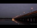 Закат у Северного моста глубокой осенью