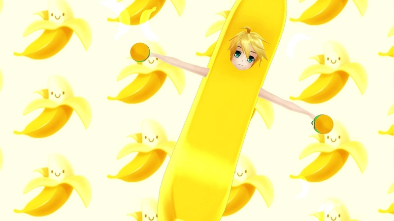 [MMD] - Banana Song With Len! [Motion DL]