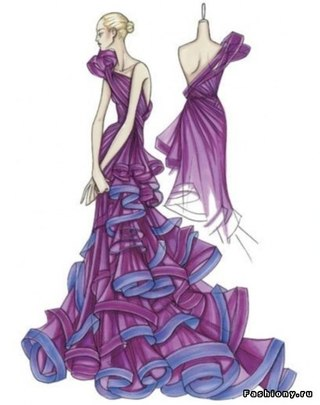 как нарисовать эскиз одежды: