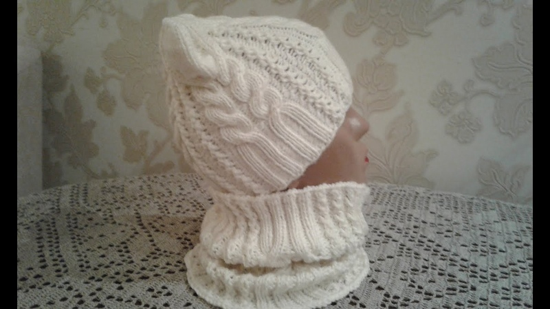 Шапка спицами. КотоШапка. Часть 1. Knitting for kids How to knit a hat