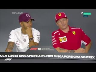 2018 singapore - drivers press conference