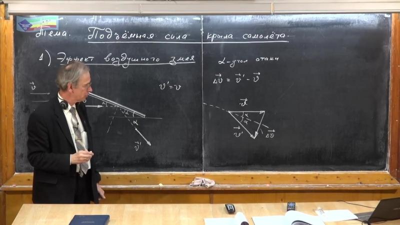 Урок 135. Применения ур-ния Бернулли (ч.2). Подъемная сила крыла самолета (ч.1)