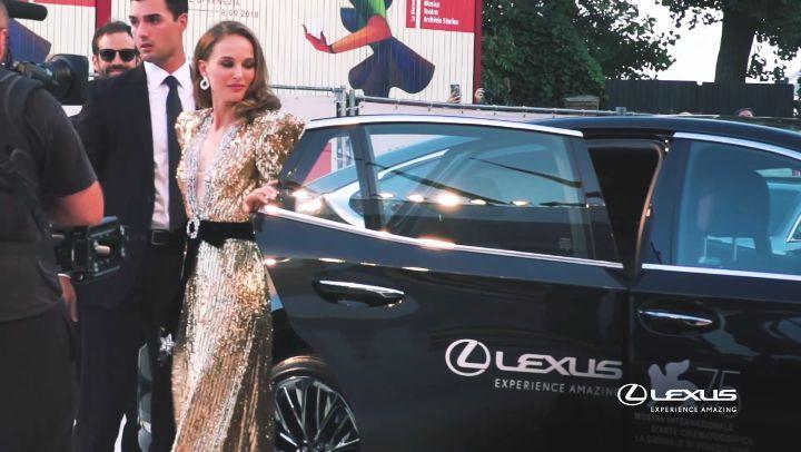 Lexus Italia on Instagram Day7 Straordinaria e indimenticabile NataliePortman illumina il red carpet di Venezia75 LexusLS LexusVenezia75