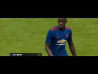 Axel Tuanzebe debut for Manchester United vs Wigan 16/7/2016