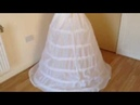 How To Sew Hoop Under Skirt for Ball Gown Wedding Gown