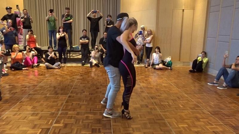 Sarah Lopez Ivo Colada 2018 Original Latin Dance Congress 2018 Kizomba demo 9th June