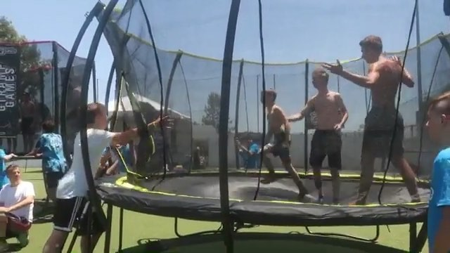 """Greg Roe Trampoline on Instagram """"Getting set for the @skybound.trampolines @gtrampgames GTGamesEU with a great clip by @brandon.eche from the US..."""